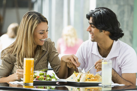 Couple Enjoying a Healthy Meal